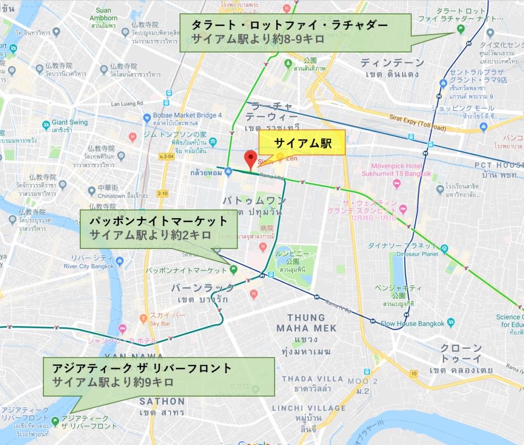 バンコク 夜市の地図