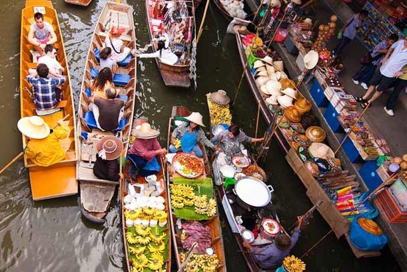 【タイ:バンコク観光】絶対に行くべき 【 水上マーケット 】3選